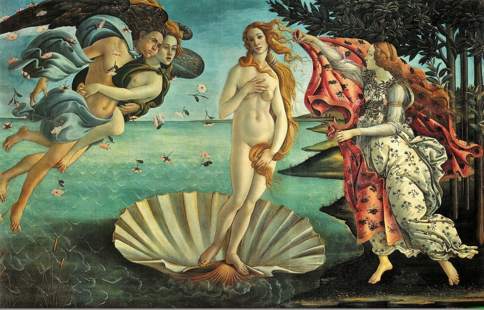 Aphrodite, Botticelli's iconic image of the birth of the goddess.
