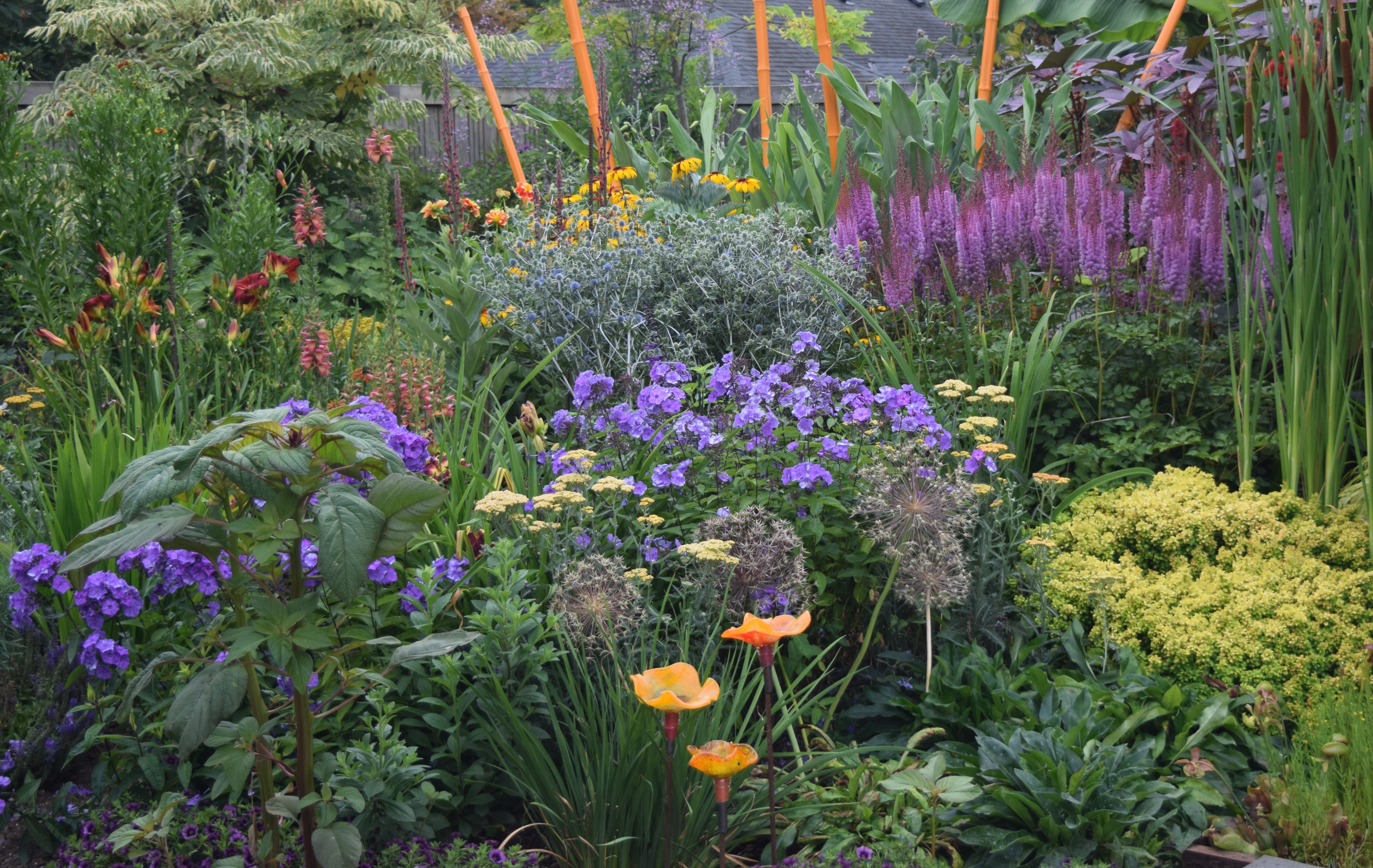 Example of a garden created to support bees.
