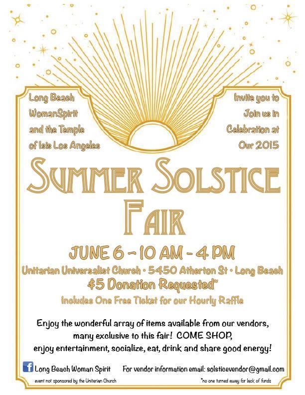 Summer Solstice Fair Event 2015