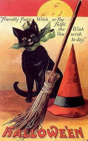 vintage-halloween-black-cat-broom-withes-hat-full-moon-card