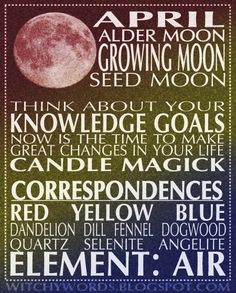 April Moon and her Correspondences